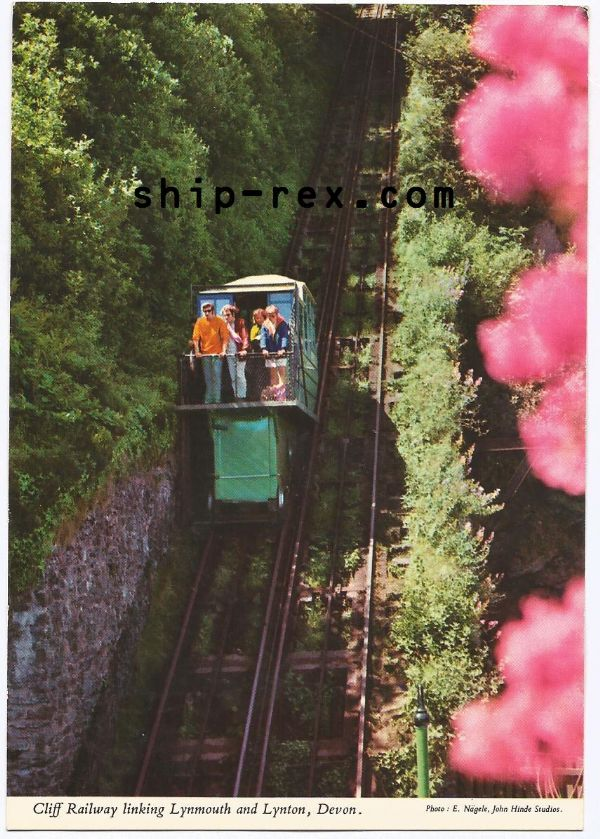 Lynton and Lynmouth Cliff Railway - postcard